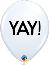 Simply YAY! Balloons (White) - 11 Inch Balloons 6pcs